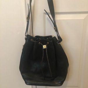 Celine leather draw string bag